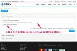 Add new address or select your existing address.