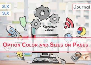 OpenCart Sayfalarda Renk ve Boyut Seçenekleri